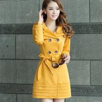 千源2013秋装新款甜美双排扣中长款风衣外套修身显瘦大领女装外套 价格:169.00