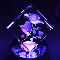 水晶音乐盒八音盒生日礼物创意女生精品礼品水晶钢琴水晶球音乐盒 价格:48.00