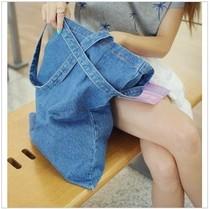 韩国stylenanda 牛仔 做旧 复古 女 单肩包 购物袋 环保袋 帆布包 价格:25.00