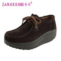 加蓝卡卡2013真皮摇摇鞋女鞋 厚底松糕休闲鞋坡跟韩版舒适女单鞋 价格:98.00
