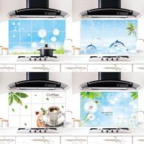 白色蒲公英 防油耐热易清洗可擦拭高档铝箔加厚厨房装饰防水墙贴 价格:5.50