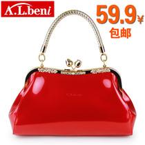 女士包包2013新款潮女包韩版漆皮手提包单肩包新娘包红色小包包邮 价格:59.90