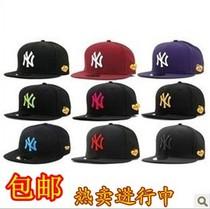 包邮韩版时尚NY平沿帽 潮品棒球帽 hiphop街舞帽 嘻哈帽 鸭舌帽子 价格:17.90