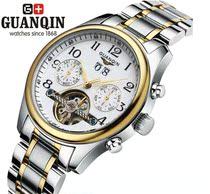 限量 瑞士冠琴正品/商务男表 男士手表\防水陀飞轮全自动机械男表 价格:520.00