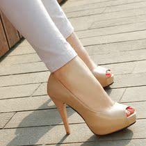 怡百丽都2013新款女鞋子女士凉鞋女夏季高跟鞋鱼嘴鞋真皮清仓包邮 价格:158.00