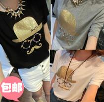小蚊子阿里巴巴批发市场韩版衣服2013新款学生装少女装短袖T恤潮 价格:18.00