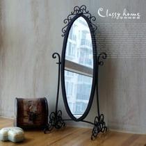 好莱坞 苏菲雅超大复古铁艺台式梳妆镜化妆镜 美式乡村欧式田园 价格:158.00