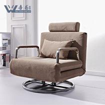 吾为 单人沙发床 旋转沙发床 电脑椅办公椅 午休床单人折叠床1302 价格:958.00