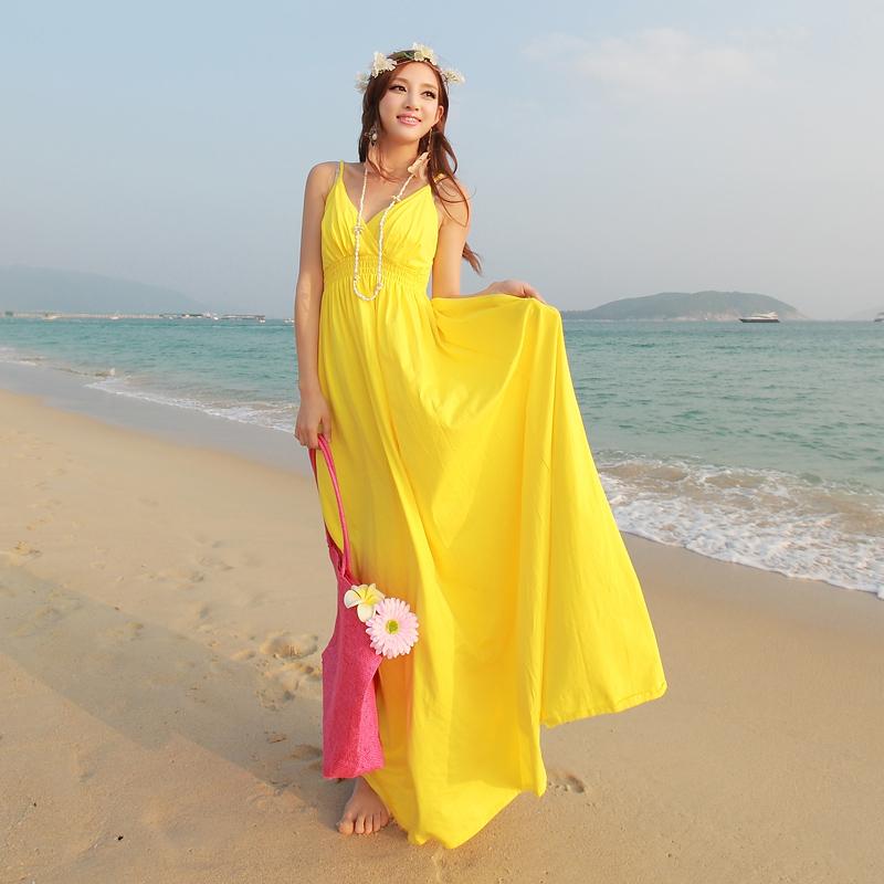 missfox波西米亚无袖长裙海边度假裙子沙滩裙吊带莫代尔连衣裙夏 价格:128.00