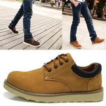 新款时尚休闲男鞋 英伦潮鞋透气大头皮鞋板鞋 低帮鞋子男耐磨单鞋 价格:148.00