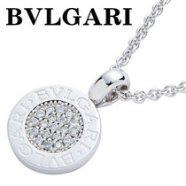 日本代购BVLGARI18K白金项链镶钻项坠 CL188202 包EMS 价格:24300.00