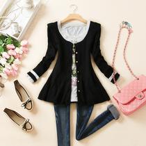 2013秋装新品韩版女装弹力抗条针织衫开衫秋季长袖毛针织外套女 价格:45.00