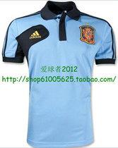 西班牙12/13新款Spain Polo训练短袖T恤 天蓝 价格:49.00