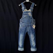 高品质儿童背带裤 男童女童装 儿童牛仔背带裤软中大童3-12岁潮款 价格:120.00