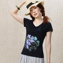 墨迹手绘2013新款夏装大码女装修身体恤短袖打底衫T恤女MJ152 价格:198.00
