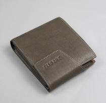 意大利铁丝丹尼全牛皮男士短款横款加厚版有活页油蜡皮休闲钱包 价格:248.00