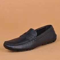 现货 Prada/普拉达 黑色经典印纹软皮豆豆驾车皮鞋男鞋 代购正品 价格:3290.00