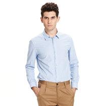 2013秋新款美特斯邦威男精致暗钮色织长袖衬衫223183 价格:135.00