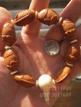 橄榄核雕刻 手串 小鲤鱼跳龙门 整条鱼造型 实物照片 超值 价格:119.00