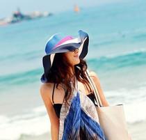 2013新款波西米亚超大檐遮阳帽沙滩帽大檐帽大草帽子出游必备! 价格:35.00