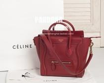 【兔兔上海】Celine 红色 nano  笑脸包 肩带 小号 牛皮 价格:12060.00
