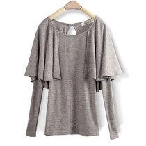 包邮 2013秋装新款  欧美修身圆领长袖女T恤打底衫 大码小衫女 价格:39.00