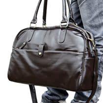 时尚手提包休闲PU皮包英伦韩版潮男包包单肩包行李袋旅行包斜挎包 价格:79.00
