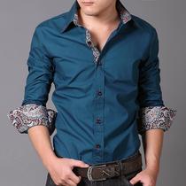 海澜之家衬衫 男 长袖 修身 潮男正品衬衣韩版商务衬衫衬衣上衣潮 价格:95.00