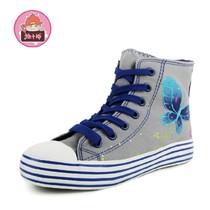 【淘牛品】手工手绘帆布鞋 韩版高帮系带松糕鞋潮女鞋8529 价格:98.80