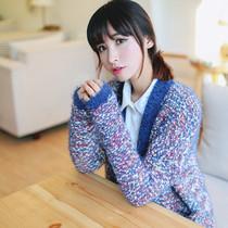素年简衣2013秋冬女装新款中长款宽松大码针织衫女开衫毛衣外套女 价格:88.00