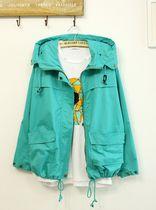 2013韩版短款工装外套休闲长袖大码彩色风衣女秋装紫色薄荷绿酒红 价格:140.00