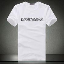 阿玛尼男装短袖T恤春款夏季男士圆领T恤韩版修身短袖t恤加大码男 价格:55.00
