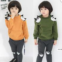 2013秋装韩版新款卡通款男童装女童装宝宝长袖卫衣套装tz-0536 价格:29.90