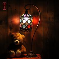欧式灯具 摩纳哥地中海客厅台灯 田园台灯 串珠台灯异域特色台灯G 价格:71.25