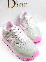 透气韩国N字母女鞋运动鞋松糕鞋球鞋厚底鞋韩国真皮夏休闲鞋跑鞋 价格:135.00