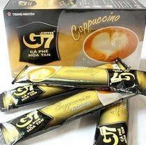 越南进口 100%纯正中原G7 卡布奇洛榛子口味 心形咖啡18g*12条 价格:16.50