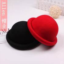 帽子 2013秋季韩版卷卷边圆顶小礼帽女 复古羊毛呢时装帽潮女帽 价格:29.90