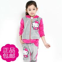 娜伲熊童装春秋装女童2013新款韩版天鹅绒儿童运动套装女装比笛莎 价格:99.00