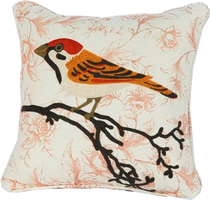 JenniferTaylor官网同步羊毛链绣小鸟沙发靠垫抱枕垫含芯包邮 价格:429.00