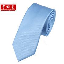 韩版 纯色细条纹6CM窄版领带 男士休闲  天蓝色 价格:35.00