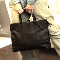 韩版男包 PU皮包 文件包商务公文电脑包 复古男士手提单肩斜挎包 价格:58.00