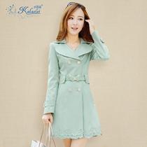 女式风衣2013新款女装秋装韩版修身中长款长袖外套女士休闲风衣女 价格:238.00