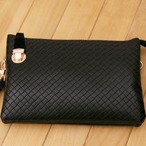 2013新款女包手包欧美信封包双层口袋菱格纹手拿包斜跨毛毛包新品 价格:58.08