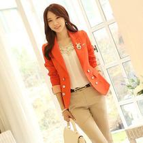 阿依连朵以2013秋装新款专柜正品ccdd韩版双排扣小西服装外套女潮 价格:110.40