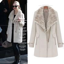 习习古风2013欧美新冬款毛领保暖加厚英伦风 羊毛呢大衣外套L7897 价格:299.00