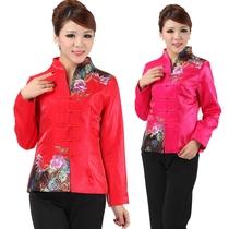 2013年女士唐装中老年女装春秋装中年妈妈装民族风上衣长袖外套5I 价格:128.00
