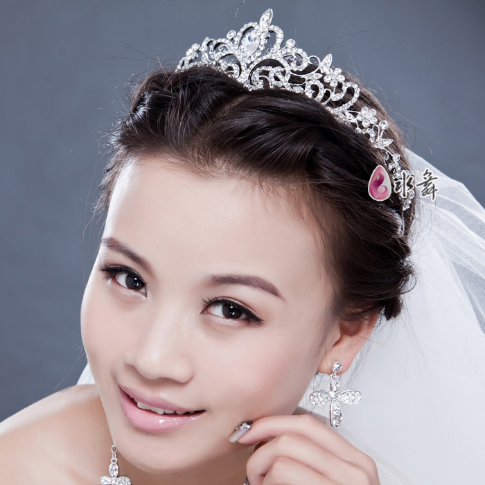新娘皇冠头饰宠爱韩式水钻结婚欧式大皇冠盘发饰品婚纱配饰礼盒装 价格:62.80