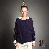 原创设计 秋装新款女 文艺宽松纯色套头韩版蝙蝠袖纯棉长袖厚毛衣 价格:295.00