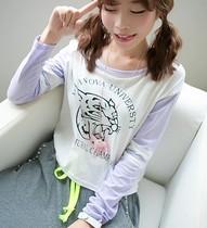 【懒猫家】2013秋 韩版帅气豹子头 棒球袖拼接短款长袖T恤 价格:42.00
