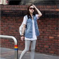 牛仔马夹女长款牛仔马甲女韩版时尚修身背心牛仔女士秋装女装衣服 价格:76.00